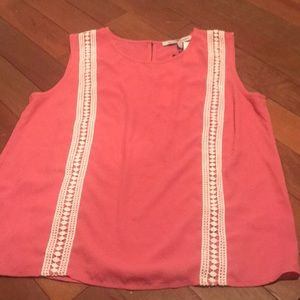 Spring Pink and Lace Top
